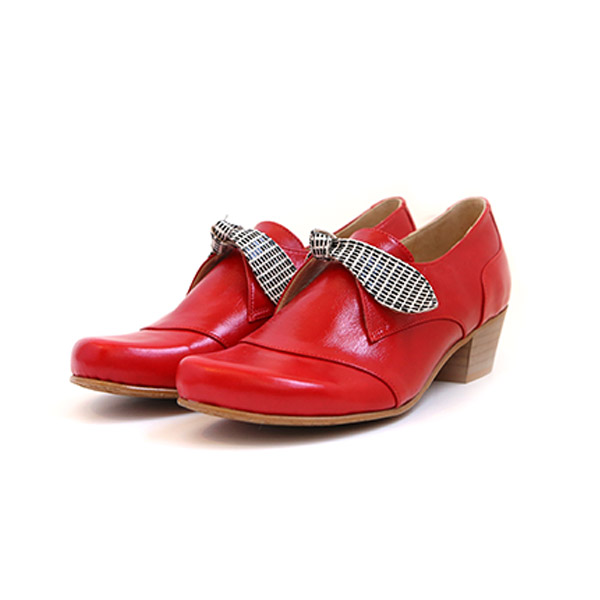Red-patent-leather-women's-shoes-wide-chunky-heels-209$